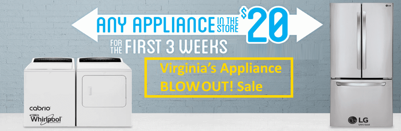 Appliance blowout sale!